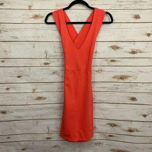 Lulu's Coral Strappy Cross Back Body-con Dress NWT